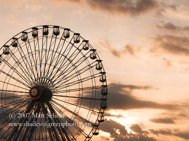 Ferris Wheel at Sunset, Ocean City, NJ