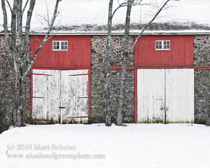 Barn in Winter, Upper Makefield, Pa