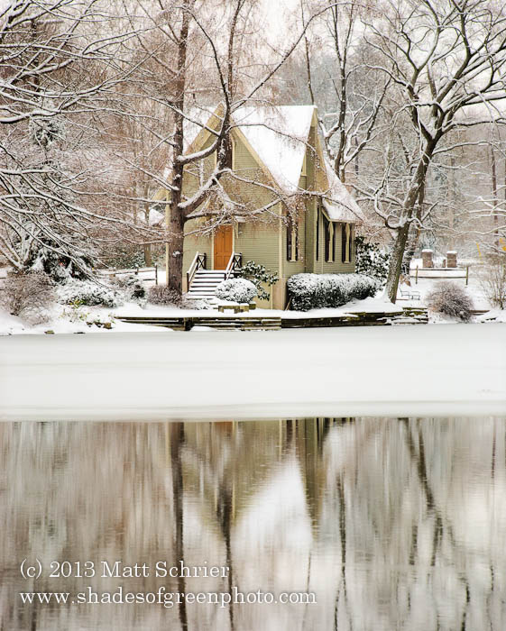 Lake Afton Library Snow, Yardley, Pa