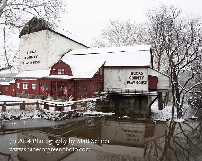 Bucks County Playhouse in Snow, New Hope, Pa