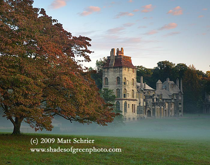 Morning Fog at Fonthill Castle, Doylestown, Pa