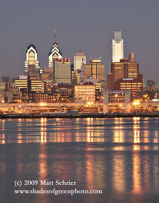 Delaware Reflections, Philadelphia, Pa