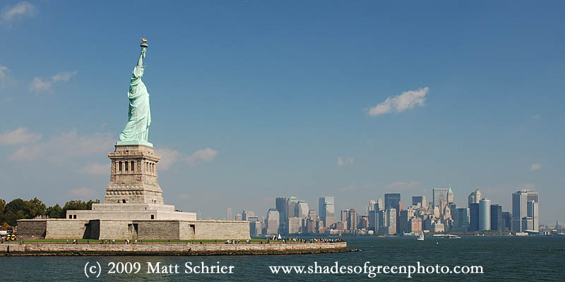 Statue of Liberty and Lower Manhattan, New York City