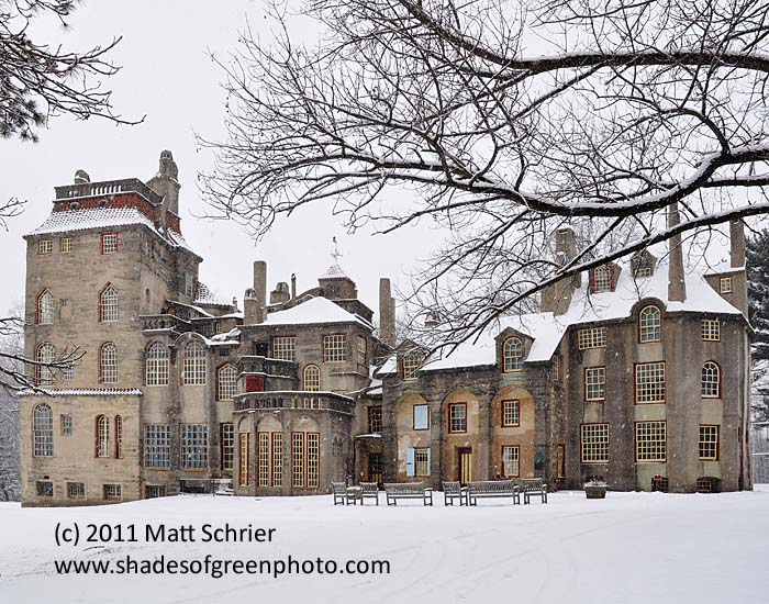 Fonthill in Snowstorm, Doylestown, Pa