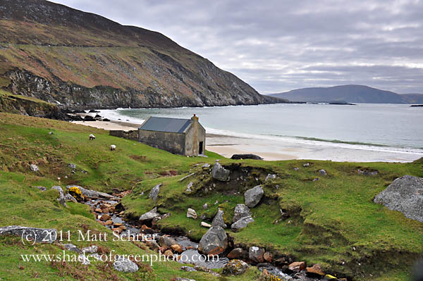 House on Keem Beach, Achill Island, Ireland