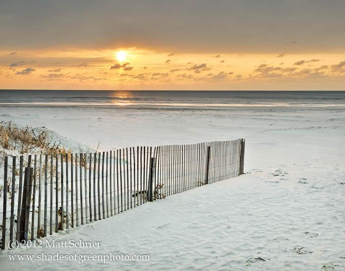 Ocean City Nj Photo Art Print Sunrise With Fence