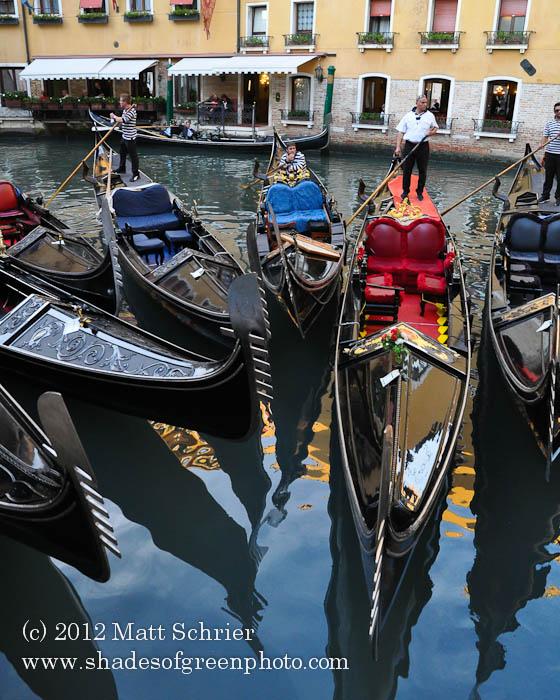 Gondola Logjam, Venice, Italy