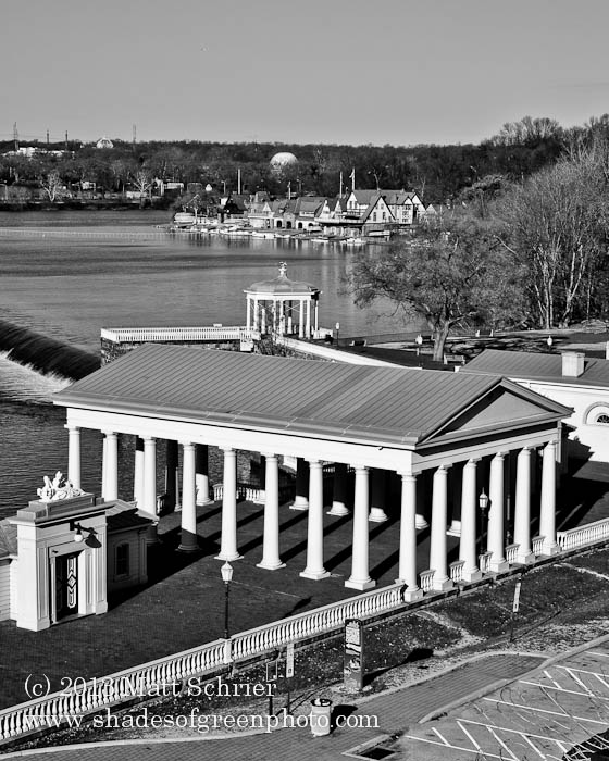 Boathouse Row in B/W, Philadelphia, Pa