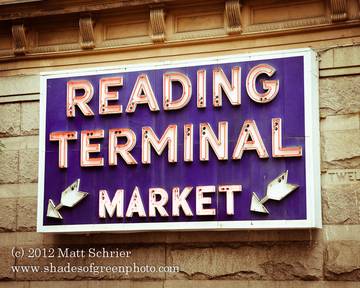 Reading Terminal Market SIgn, Philadelphia, Pa
