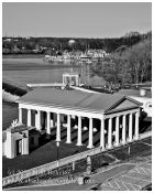 Boathouse Row in B/W